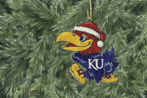 KU Jayhawk Ornament