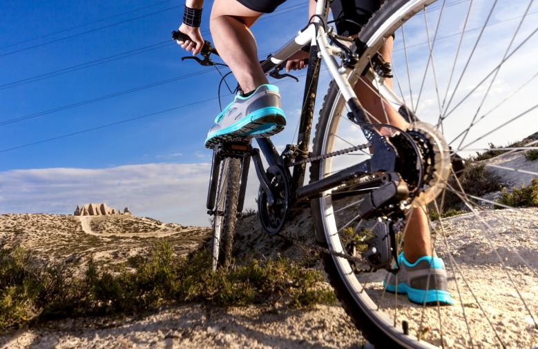 Mountain Biking on Trail
