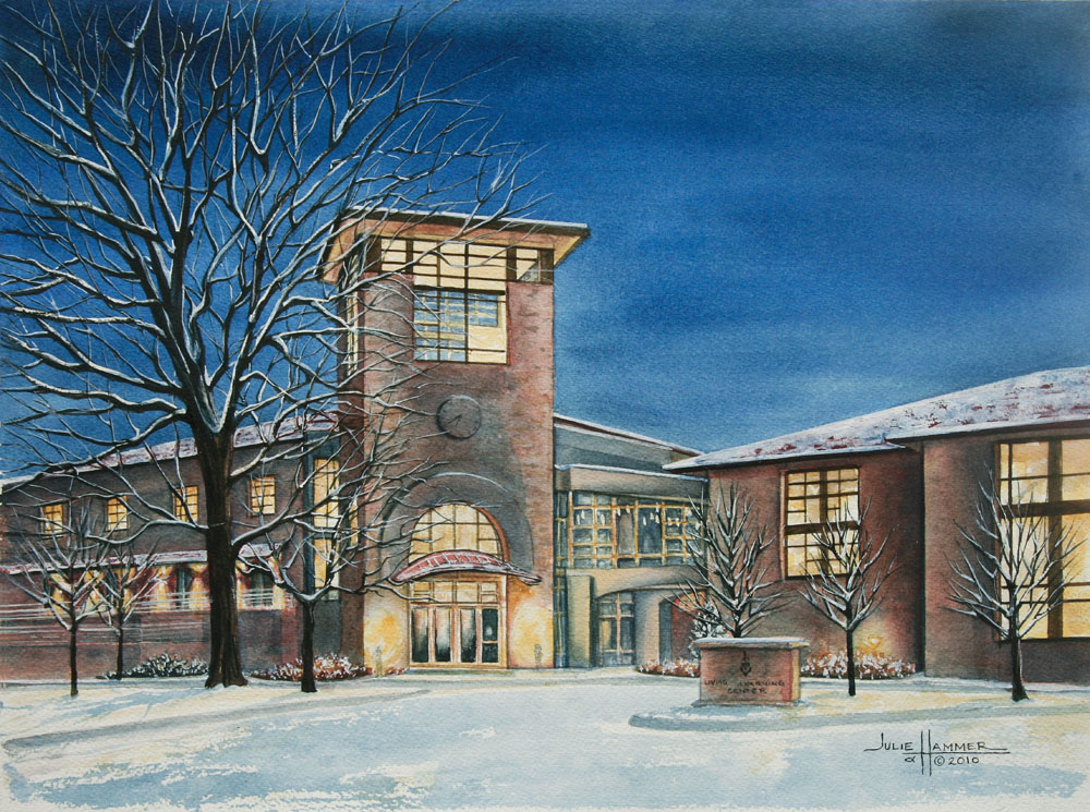 Washburn LLC watercolor painting by Julie Hammer, artist