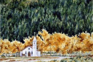 White Church with Aspen