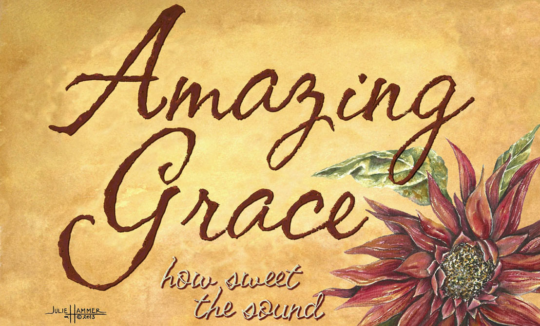 Amazing Grace watercolor painting by Julie Hammer, artist