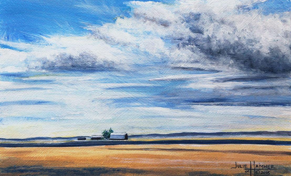 Summer Sky acrylic painting by Julie Hammer, artist
