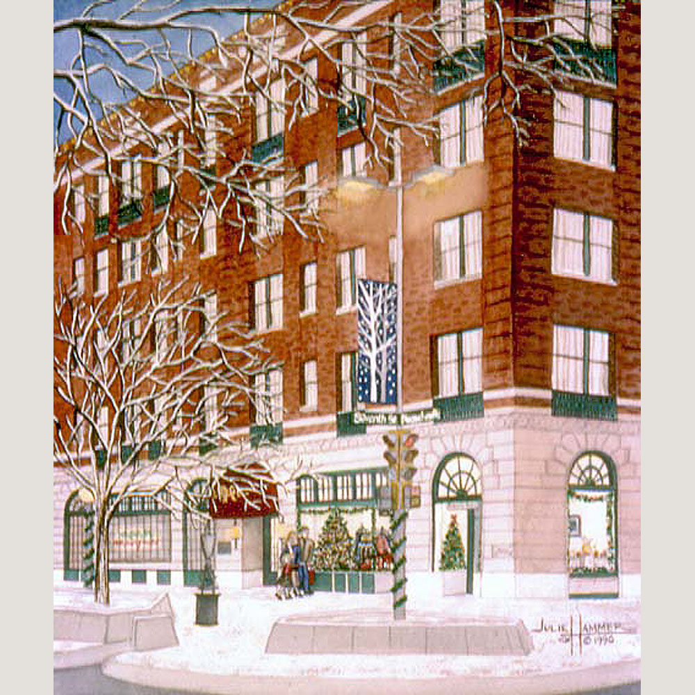 Eldridge Hotel watercolor painting by Julie Hammer, artist