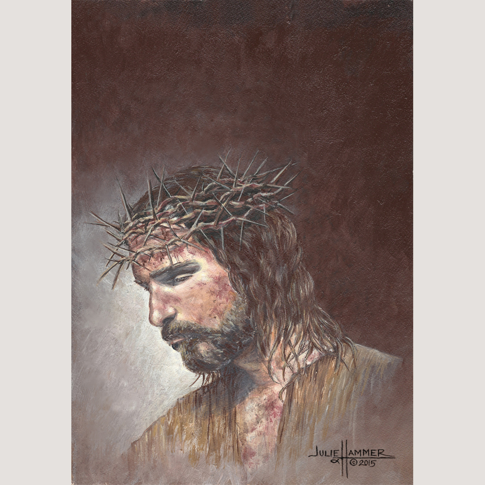 My Savior acrylic painting by Julie Hammer, artist